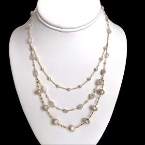 Anthropologie Serefina Triple Layered Necklace